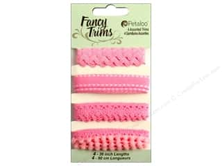 Pom Poms Ribbon Work: Petaloo Fancy Trims 4yd Assorted Shades of Pink