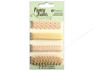 Petaloo Fancy Trims 4yd Assorted Taupe