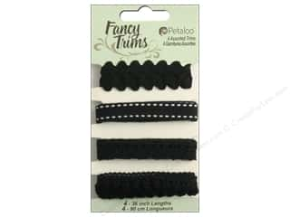 Petaloo Fancy Trims 4yd Assorted Blacks