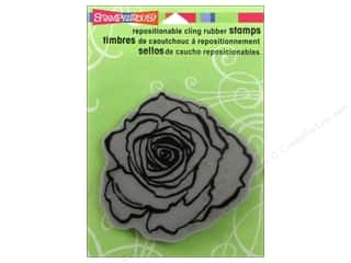 Stampendous Cling Rubber Stamp Rose Bloom