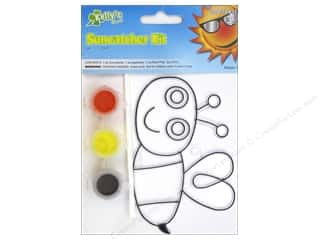 Kid Crafts Flowers: Kelly's Suncatcher Kit Flower Garden Friends Bee