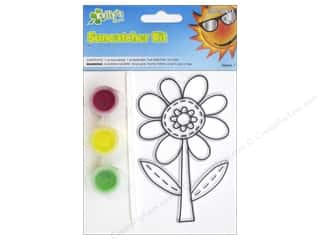 Kid Crafts Flowers: Kelly's Suncatcher Kit Flower Garden Friends Flower