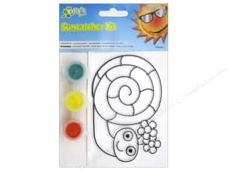 Kelly's Suncatcher Kit Flwr Garden Friends Snail