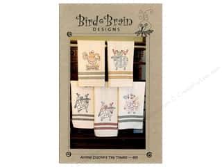 "Bird Brain Design 4"": Bird Brain Designs Animal Stackers Tea Towels Pattern"