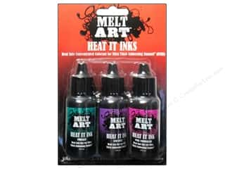 Beeswax Ranger Melt Art: Ranger Melt Art Heat It Dye Ink Gems Luxurious 3pc