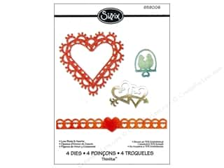 Valentine's Day Clearance Crafts: Sizzix Thinlits Die Set 4PK Love Birds & Hearts by Jen Long Philipsen