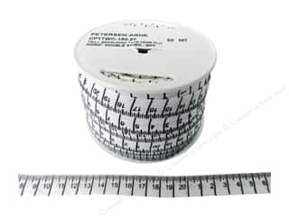 Printed Twill Tape Measuring Tape Centimeters White (50 yards)