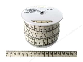 Printed Twill Tape Measuring Tape Centimeters Natural (50 yard)
