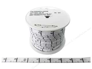 Printed Twill Tape Measuring Tape Vertical Inches White (50 yard)