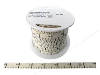 Printed Twill Tape Measuring Tape Vertical Inches Natural (50 yard)