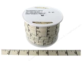 Printed Twill Tape Measuring Tape Horitzontal Inches Natural (50 yard)