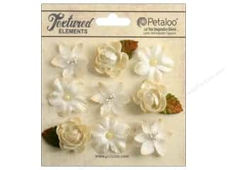 Petaloo Textured Elements Mini Blossoms Ivory
