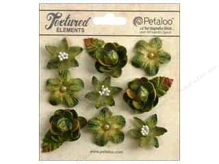 Petaloo Textured Elements Mini Blossoms Moss Green