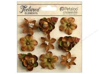 Petaloo Textured Elements Mini Blossoms Mocha