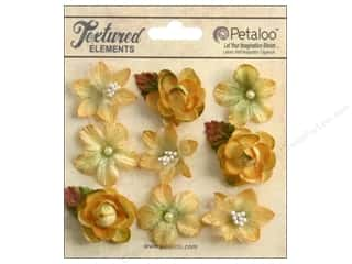 Brandtastic Sale Petaloo: Petaloo Textured Elements Mini Blossoms Amber