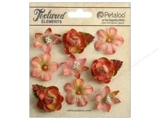 Flowers / Blossoms $6 - $22: Petaloo Textured Elements Mini Blossoms Apricot