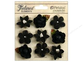 Brandtastic Sale Petaloo: Petaloo Textured Elements Mini Blossoms Black