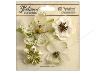 Petaloo Textured Elemnts Blossoms Ivory