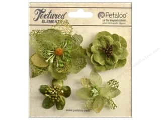 Petaloo Textured Elements Blossoms Moss Green