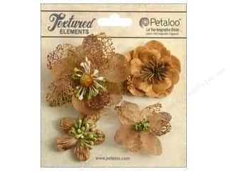 Petaloo Textured Elemnts Blossoms Mocha