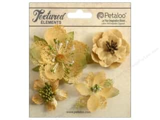 Petaloo Textured Elemnts Blossoms Amber