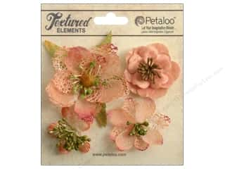 Petaloo Textured Elements Blossoms Apricot