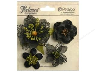Brandtastic Sale Petaloo: Petaloo Textured Elements Blossoms Black
