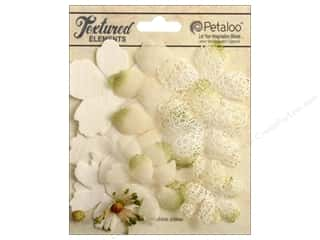 Petaloo Textured Elements Flower Layers Ivory