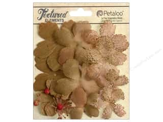 Brandtastic Sale Petaloo: Petaloo Textured Elements Flower Layers Mocha