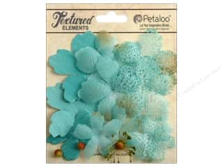 Petaloo Textured Elements Flower Layers Teal