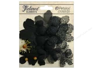 Petaloo Textured Elements Flower Layers Black