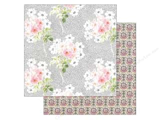 Anna Griffin Paper 12&quot;x 12&quot; Eleanor Bouquet Pink White (25 piece)