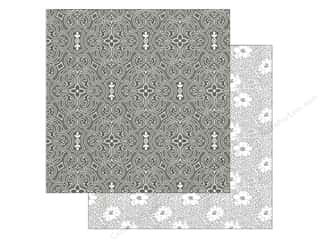 Generations Anna Griffin Cardstock: Anna Griffin 12 x 12 in. Cardstock Eleanor Ornate Pattern Black (25 pieces)