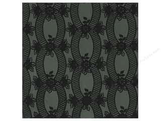 Generations Anna Griffin Cardstock: Anna Griffin 12 x 12 in. Cardstock Eleanor Flocked Black (25 pieces)