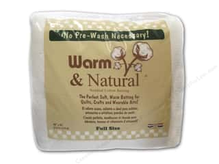 Warm & Natural batting: The Warm Company Warm and Natural Cotton Batting Full 90 x 96 in.