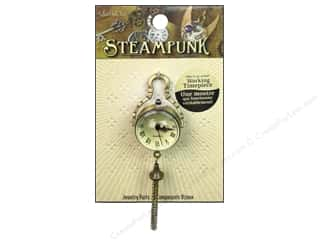 Charms and Pendants inches: Solid Oak Pendant Steampunk Globe Watch Antique Gold