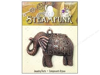 Solid Oak Pendant Steampunk Elephant Antique Copper