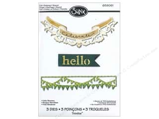 Sizzix Thinlits Die Set 3PK Hello Banners