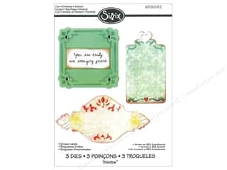 Sizzix Thinlits Die Set 3PK Ornate Labels