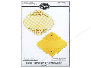Sizzix Thinlits Die Set 2PK Ornate Label #2