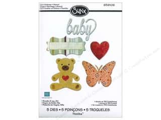 Echo Park Paper Company Sizzix Die: Sizzix Thinlits Die Set 5PK Bundle of Joy Girl by Echo Park Paper