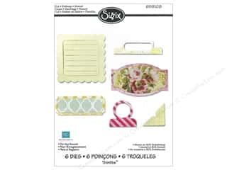 "Embossing Aids 6"": Sizzix Thinlits Die Set 6PK For The Record by Echo Park Paper"