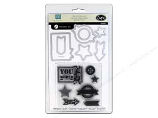 Sizzix Framelits Die Set 7PK with Stamps All About A Boy