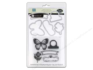 Sizzix Framelits Die Set 5 PK w/Stamps For The Record 2 Tailored