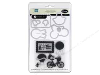 Transportation Hot: Sizzix Framelits Die Set with Stamps Sweet Day by Echo Park