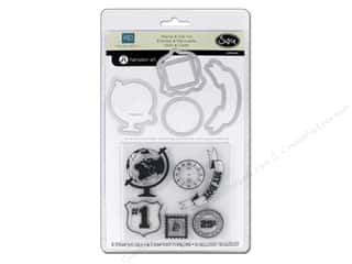 Charms $2 - $3: Sizzix Framelits Die Set 5 PK w/ Stamps This & That Charming #2 by Echo Park