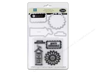 Grace Company, The inches: Sizzix Framelits Die Set with Stamps This & That Graceful by Echo Park