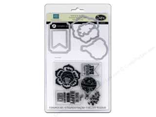 Sizzix Hot: Sizzix Framelits Die Set 5 PK with Stamps This & That Graceful #2 by Echo Park