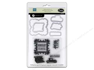 New Sizzix Die: Sizzix Framelits Die Set with Stamps Times & Seasons by Echo Park