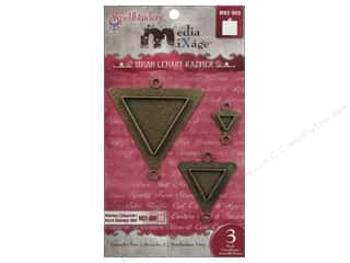 Spellbinders Media Mixage Bezels Triangles Two Bronze